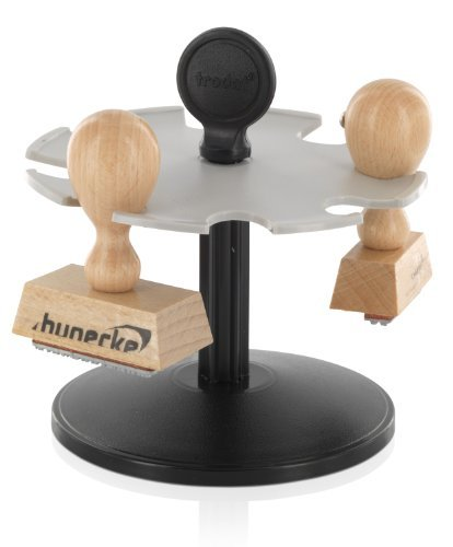 Stempelträger Stempelhalter Rondell Stamp Rack 8er für Bürostempel Holzstempel Hanstempel Wortbandstempel Datumstempel e.t.c.