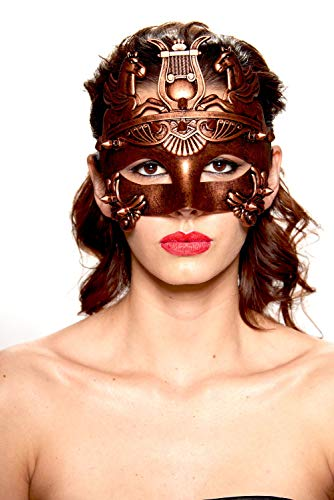 KII Roman Gladiator Spiked Masquerade Mask (Black/Bronze; Unisex One Size) for $<!--$14.45-->