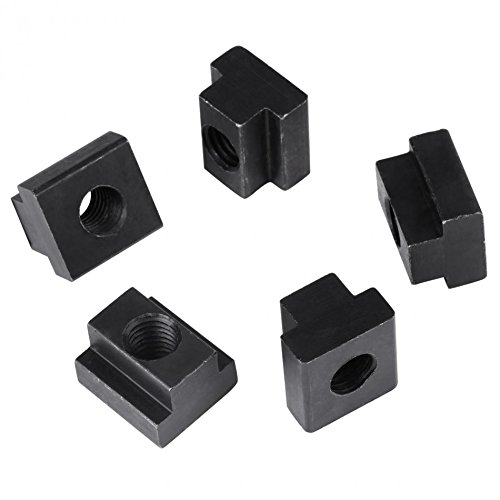 5Pcs Black Nuts Oxide Finish T Slot Nuts M12 Threads Fit Into T-slots In Machine Tool Tables