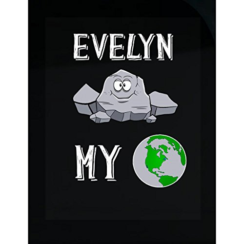 - Prints Express Evelyn Rocks My World Funny Cute Valentines Gift - Sticker