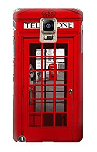 S0058 Classic British Red Telephone Box Case Cover For Samsung Galaxy Note 4