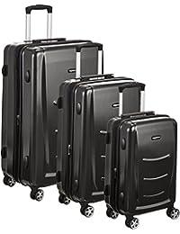 """AmazonBasics Hardshell Spinner Luggage - 3-Piece Set (20"""", 24"""", 28""""), Slate Grey"""