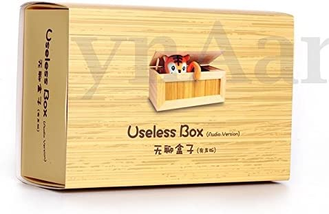 Useless Box Leave Me Alone Box Wooden Machine Don/'t Touch Tiger Toy Gift DOS