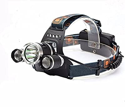 OUTERDO LED Headlamp 6000Lm 3x CREE XM-L2 T6 LED 3T6 Rechargeable Headlight Headlamps Head Light Torch Battery Not Included
