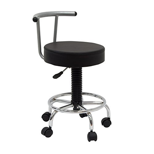 Offex Artists Futura Drafting Stool with Footring - Silver/Black by Offex