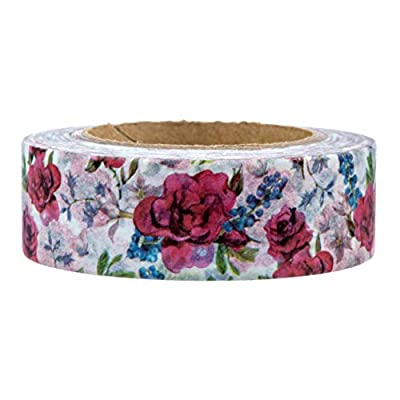 Blue and Red Flower Washi Tape by Foshan Manzawa