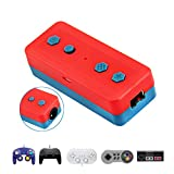Kahool Wireless Bluetooth Adapter for Nintendo Switch & PC Windows, Works with Gamecube NGC Controller, NES/SNES/Wii Classic Controller & Other Same Wii Port Controllers
