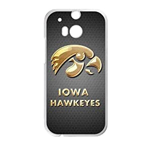 Generic Customize Unique Otterbox--NCAA Iowa Hawkeyes Team Logo PC and TPU Case Cover for HTC One M8 hjbrhga1544