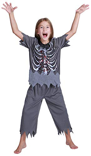 Skeleton Costume Boys - Halloween Carnival Children Zombie Scary Bloody Cosplay Costume Kit
