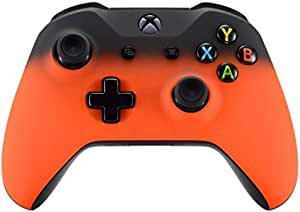 Ninja Turtle Inspired Green and orange Wireless Xbox One Controller with custom Pizza Thumb Sticks Custom designed by Splattercontrol