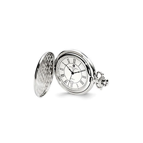 Charles Hubert Chrome-finish Oval Design Pocket Watch ()