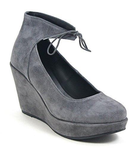 Cordani Wedge Sandal Remo Suede Grey zgnwzZqB