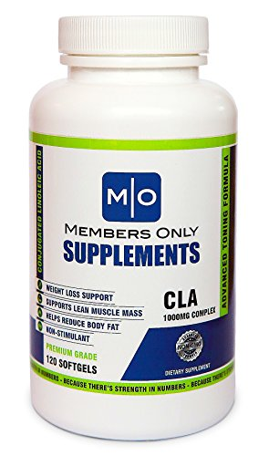 CLA 1000 Conjugated Linoleic Acid, 120 Serving Soft Gel, Weight Loss Supplement, Stimulant-Free by Members Only Supplements