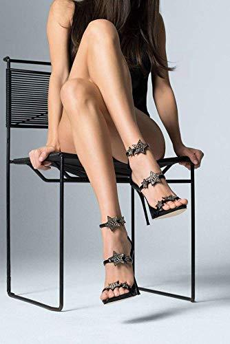 Avec Et Étoile Hauts Diamants Argent Chaussures Pour coloré Noir Sandales D'été 39 Femmes Talons Taille À Hauts Fuweiencore z8vPqFv