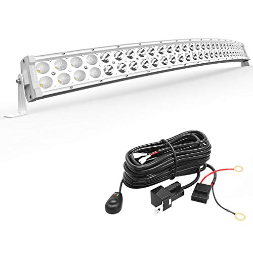 LED Light Bar YITAMOTOR 32 inches White Curved Light Bar 180W Spot Flood Combo Off Road Lights with 12V Wiring Harness Compatible for Pickup, Jeep, Car, Truck, Boat, ATV, Motorcycle