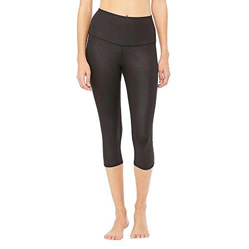 Alo Yoga Women's High Waist Airbrush Capri Legging, Black, Large