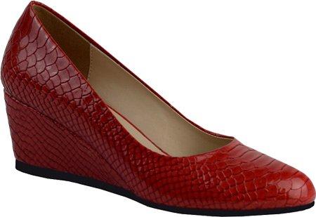 DimeCity Ann Creek Women's 'Venable' Wedge Pump Shoes B01N7HIN4A 6 B(M) US|Red