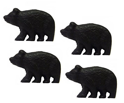 Rustic Black Bear (Rustic Black Bear Drawer Pulls (Set of 4 Knobs))