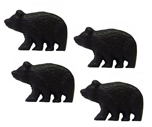 (Rustic Black Bear Drawer Pulls (Set of 4 Knobs))