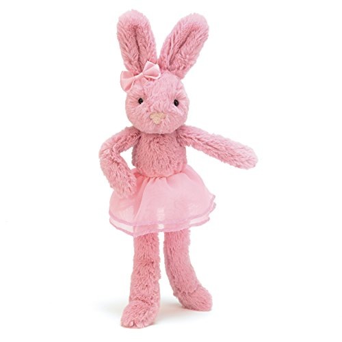 Jellycat Tutu Lulu Pink Bunny Stuffed Animal, 9 inches]()