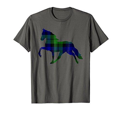 Black Watch Plaid Horse Scottish Pride Tartan T-Shirt