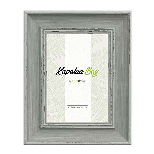 5x7 Picture Frame Distressed - Mount Desktop Display, Frames by EcoHome