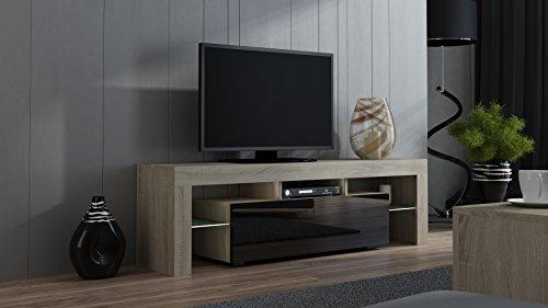 TV Stand MILANO 160 Sonoma Oak Line / Modern LED TV Cabinet / Living Room  Furniture