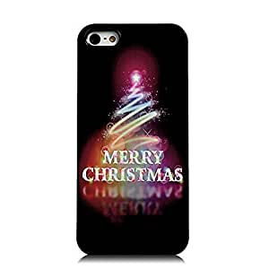 6 plus 5.5 Case, iPhone 5&6 plus 5.5 Case - Sunshine Case Fashion Style Painted Colorful Pattern Santa Claus Christmas Tree Merry Christmas & Happy New Year Cover Hard Case for iPhone 5&6 plus 5.5(Line Christmas Tree)