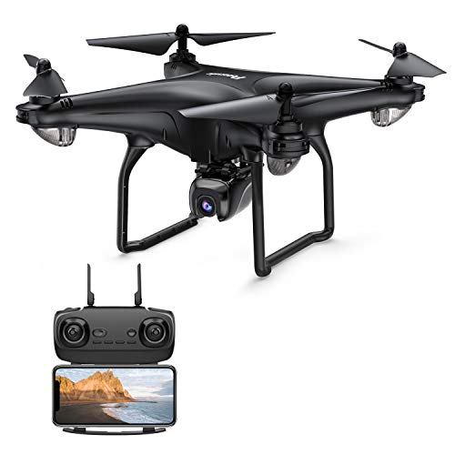 Potensic D58 FPV Drone with Camera for Adult, 1080P 5G WiFi FPV Live Transmission,RC Quadcotper Helicopter for Kids Expert, Auto Return, 120 Angle Adjustable 90° Lens, 18mins Flight Time, Follow Me