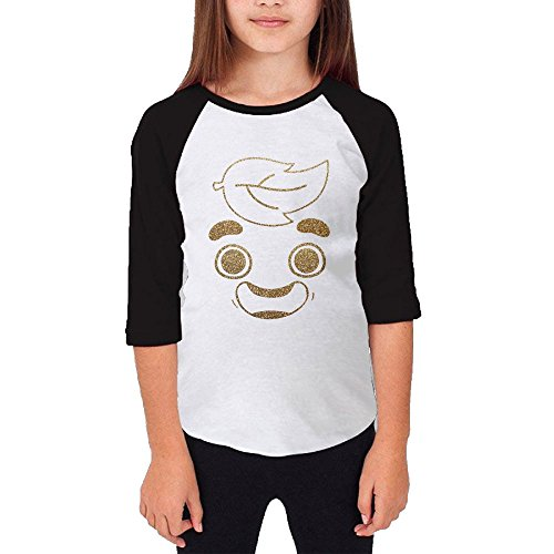Liloian Guava Juice Gold Foil Kids 3/4 Sleeves Raglan T Shirts (Philip Vogels)