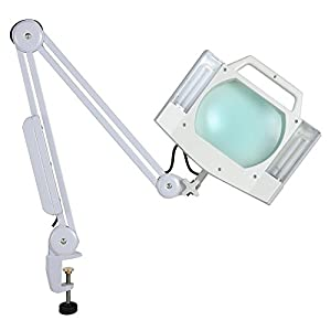 AW 5X Diopter Magnifying Lamp Clamp On Desk Lamp Light Magnifier ...