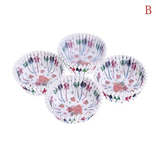 1 lot 100PCS/Set Muffin Cupcake Paper Cups Cake Forms Cupcake Liner Baking Muffin Box Cup Case Party Tray Cake Mold Decorating Tools]()