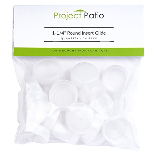 Project Patio 1 14 Round Cup Insert Glide End Cap For Wrought Iron Patio Furniture 24 Pack on Insert Glides For Wrought Iron Patio Furniture