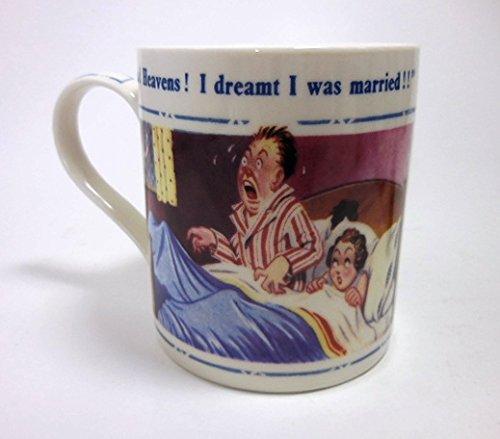 Donald McGill British Saucy Seaside Postcard Artwork Fine China Mug (Jubilee Mug China)