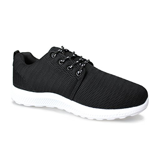 para Hombre Ligero Running Sneaker Deportivas Negro Zapatillas Hawkwell CfwzXqPf