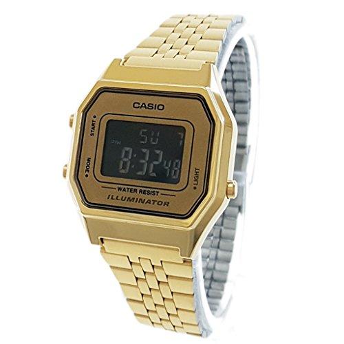 Casio LA-680WGA-9B-Clock with Quartz Movement, for Women, Gold Colour