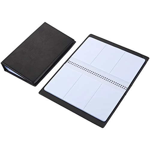 Durable Address Book - Business Card Holder – 2-Pack Name Card Organizer, PU Leather Name Card Book, Holds 240 Cards, Black, 9.5 x 7.2 x 0.12 Inches