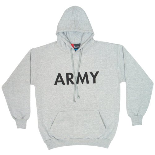 Fox Outdoor Products Army Pullover Hoodie Sweatshirt, Heather Grey, Large