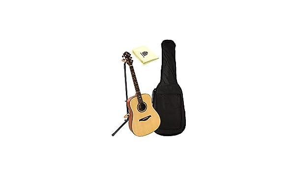 Hohner as305-ns a + Dreadnought Guitarra en Natural satinado con ...