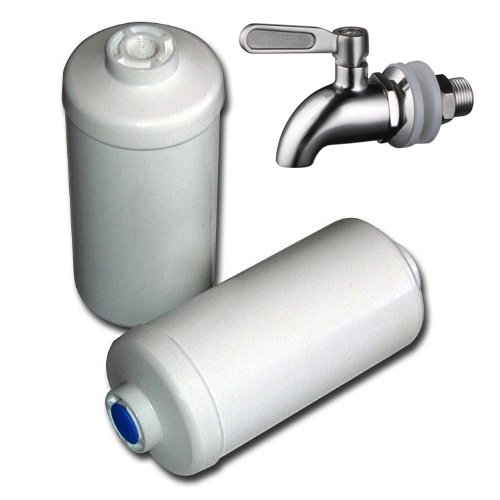 Berkey PF-2 Fluoride/Arsenic Replacement Filters, 2-Pack and Stainless Steel Spigot by Berkey