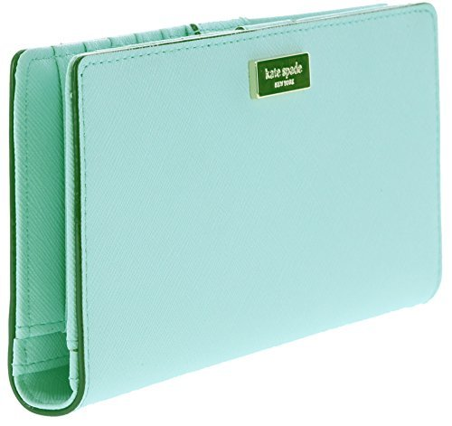 Kate Spade New York Newbury Lane Stacy Leather Wallet (Grace Blue) by Kate Spade New York