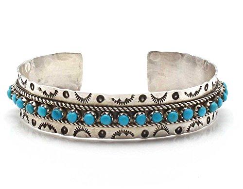 L7 Enterprises Sterling Silver & Turquoise Zuni Bracelet by Ukestine
