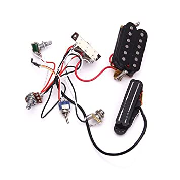 colormax circuit wiring harness w/ pickup for sg lp tl electric guitar--with