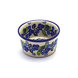 Polish Pottery Ramekin – Blue Berries