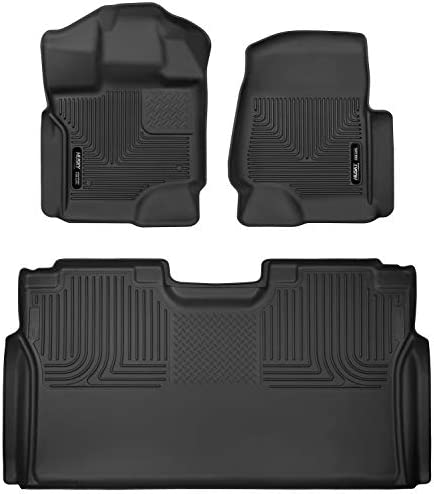 Husky Liners 53498 Fits 2015-20 Ford F-150 SuperCrew X-act Contour Front & 2nd Seat Floor Mats , Black