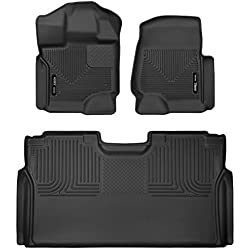 Husky Liners Fits 2015-19 Ford F-150 SuperCrew X-act Contour Front & 2nd Seat Floor Mats