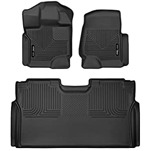 Husky Liners 53498 Fits 2015-20 Ford F-150 SuperCrew X-act Contour Front & 2nd Seat Floor Mats