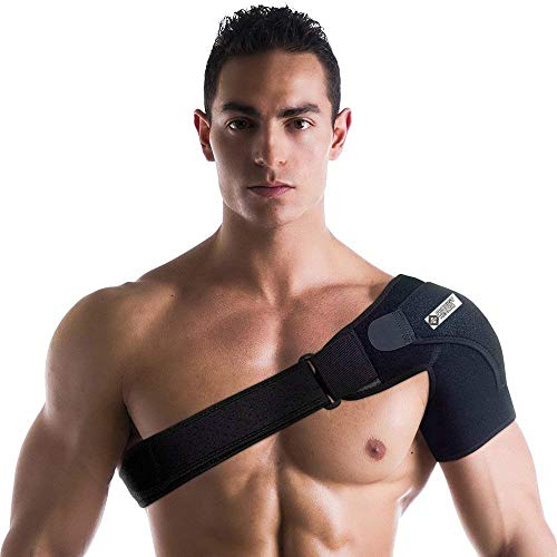 (Prodigy Health Shoulder Stability Brace & Pressure Pad for Heat & Ice Application On Arm Injuries Provides Compression Support Immobilisation For Dislocations Rotator Cuff Tears Tendinitis &Joint Pain)