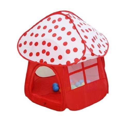 SunnnyCat Magic Play Tent House, Cute Mushroom In Red And...