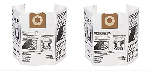 Ridgid VF3502 High Efficiency, Dry Pickup Dust Bags for 12-16 Gallon Ridgid Wet/Dry Vacuums (2 X Pack of 2) ()